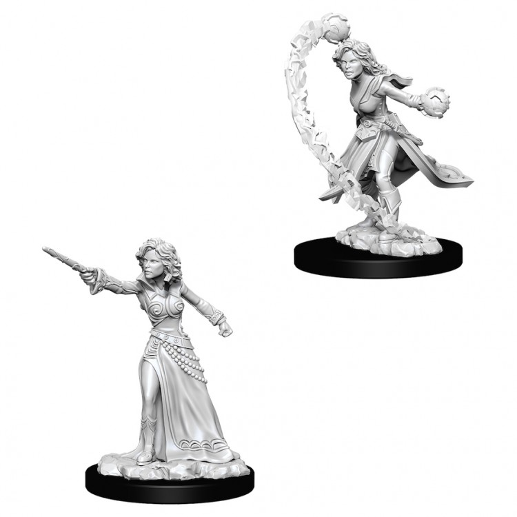 Pathfinder Deep Cuts Unpainted Minis: Female Human Wizard W6