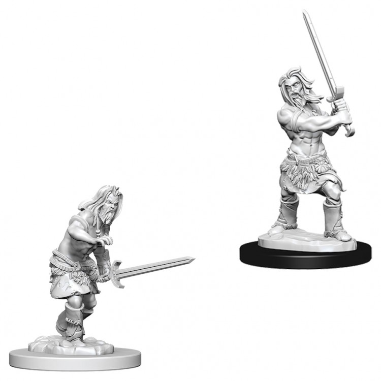 Pathfinder Deep Cuts Unpainted Minis: Male Human Barbarian W6