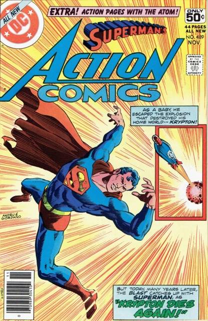 Action Comics (1938 Series) no. 489 - Whitman Variant -  Used