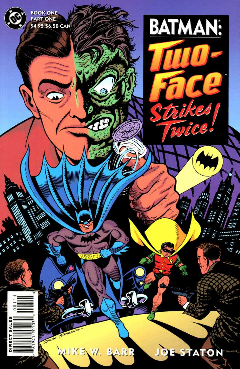 Batman Two-Face Strikes Twice (1993) Complete Bundle - Used