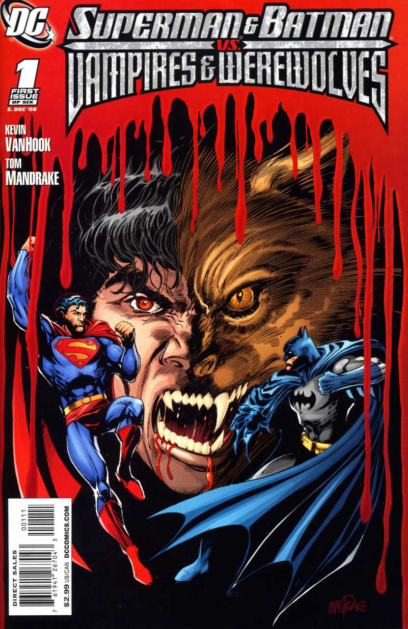 Superman and Batman Vampires and Werewolves (2009) Complete Bundle - Used