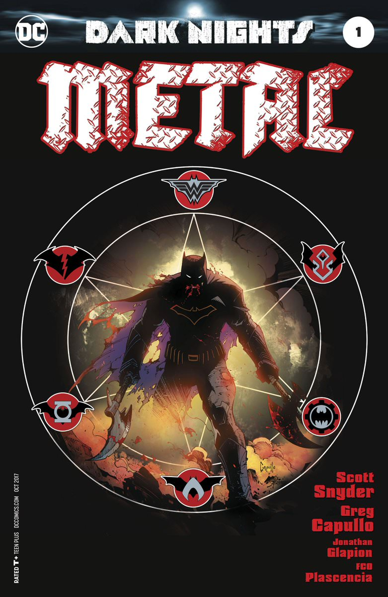 Dark Nights: Metal (2017) no. 1 (1 of 6) (1 in 100  Greg Capullo Cover) - Used