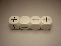 Fudge Dice White (4)