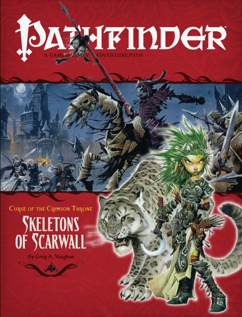 Pathfinder: Adventure Path: Curse of the Crimson Throne: Skeletons of Scarwall - Used