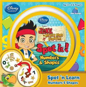 Spot It: Numbers and Shapes: Jake and Pirates