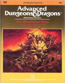 Dungeons and Dragons 1st ed: The Bloodstone Wars - Used