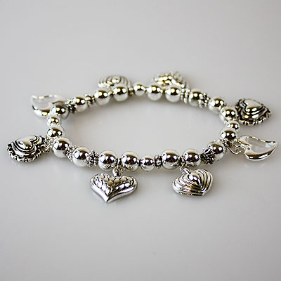 Silver Heart Bracelet