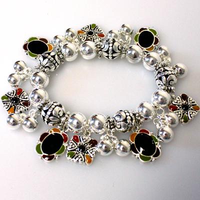 Silver Multi color Bracelet