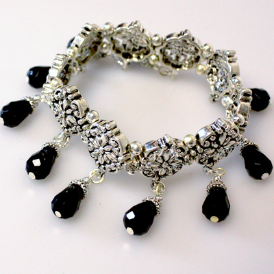 Black / Silver Bracelet
