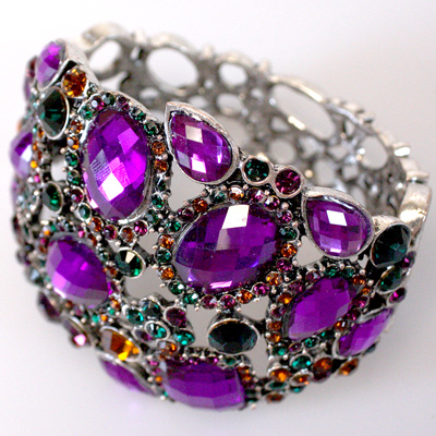 Bracelet: Bangle: Purple
