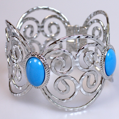 Blue / Silver Bangle Bracelet: 610801