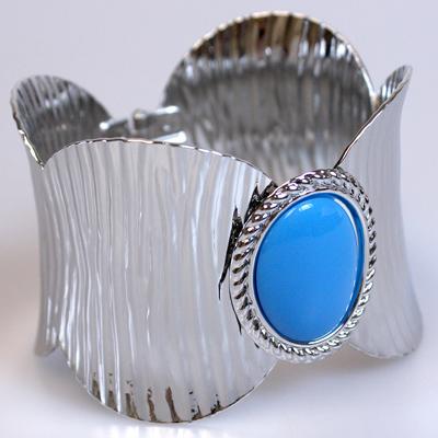 Blue / Silver Bangle Bracelet: 610901