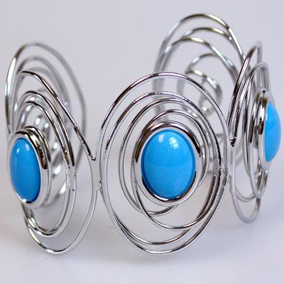 Blue / Silver Bangle Bracelet: 611002