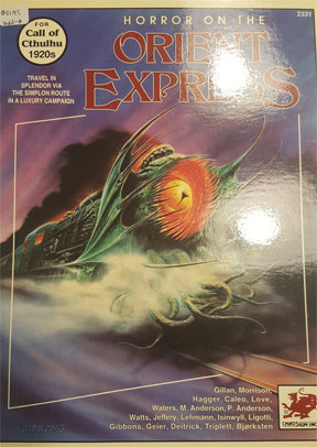 Call of Cthulhu Role Playing: Horror on the Orient Express Box Set 2331 - Used