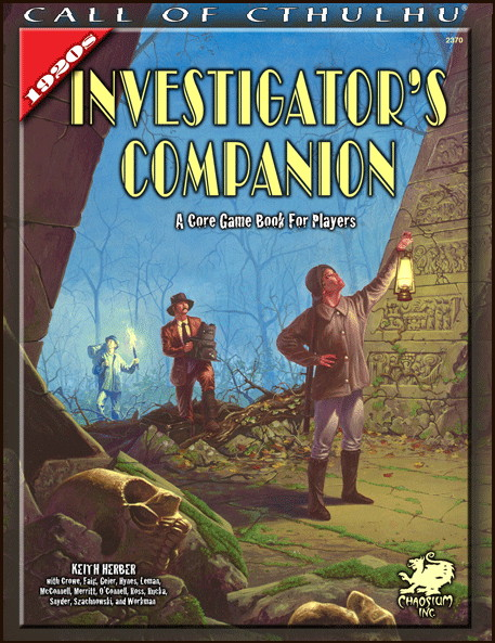Call of Cthulhu: 1920s: Investigators Companion - Used