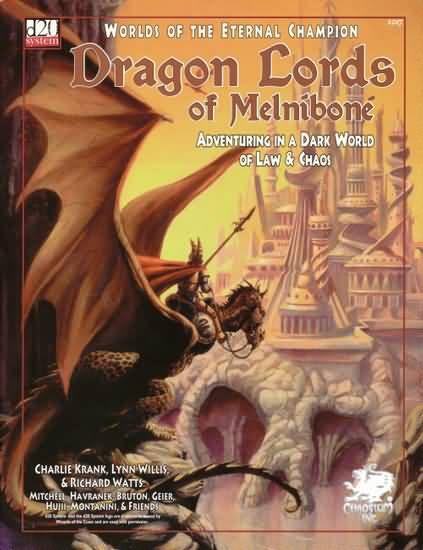 D20: Dragon Lords of Melnibone: Adventuring in a Dark World of Law and Chaos - Used