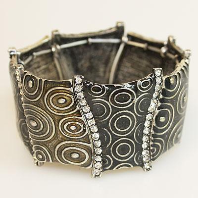 Dark Silver Clear Bracelet
