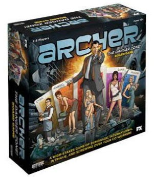 Archer: the Danger Zone Board Game - USED - By Seller No: 20 GOB Retail