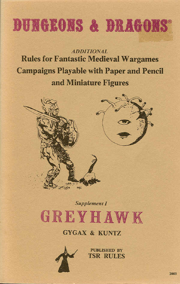Dungeons and Dragons: Supplement I: Greyhawk - USED
