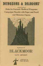 Dungeons and Dragons: Supplement II: Blackmoor - USED
