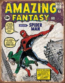 Spiderman Comic Cover Tin Sign