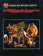 Dungeons and Dragons 2nd ed: Character Record Sheets