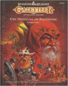 Dungeons and Dragons 1st ed: Gazetteer: The Dwarves of Rockhome - Used
