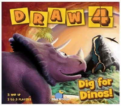 Draw 4: Dig For Dinos Board Game