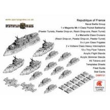 Dystopian Wars: Republique of France: Naval Battle Group: DWRF01