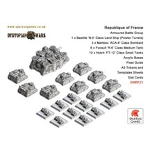 Dystopian Wars: Republicque of France: Armoured Battle Group: DWRF21