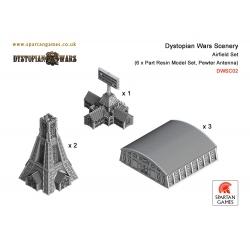 Dystopian Wars: Scenery 6 Part: Airfield Set