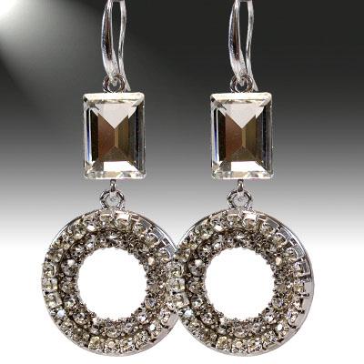 Crystal and Rhinestone: Clear Earrings