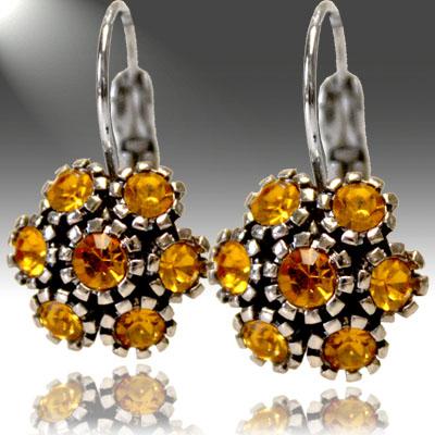 Crystal and Rhinestone: Topez Earrings