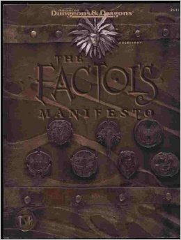 Dungeons and Dragons 2nd ed: Planescape: The Factoi's Manifesto - Used