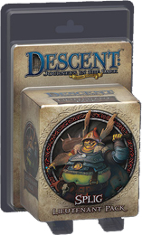 Descent: Journeys in the Dark 2nd ed: Splig Lieutenant Miniature