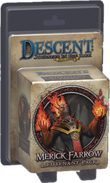 Descent: Journeys in the Dark 2nd ed: Merick Farrow Lieutenant Miniature