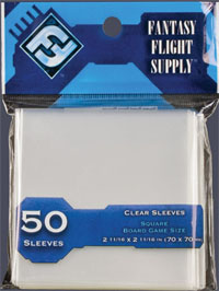 Clear Sleeves: Square Board Game Size