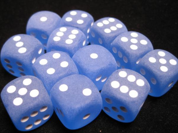 Frosted 16mm Dice Block