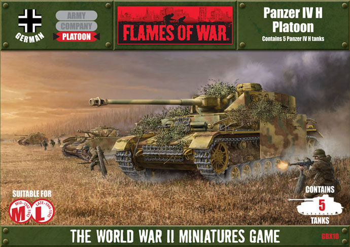 Flames of War: Panzer IV H Platoon - Used
