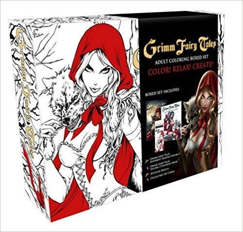 Grimm Fairy Tales Coloring Book Box Set