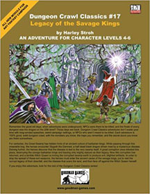 Dungeon Crawl Classics: No 17: Legacy of the Savage Kings - USED