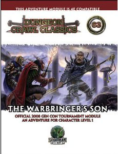 Dungeon Crawl Classics: No 63: The Warbringers Son - Used