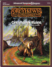 Dungeons and Dragons 2nd ed: Greyhawk Adventures: Greyhawk Ruins - Used
