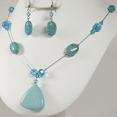 Turquoise Necklace Sets: 261001
