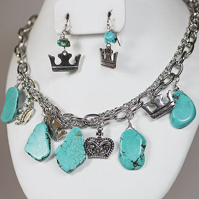 Semi Precious Turquoise Necklace Sets