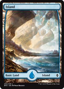 Island - Battle for Zendikar (Full Art)