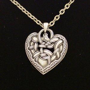 Celtic Dragon Heart Necklace: J018