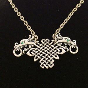 Celtic Dragons Necklace: J026