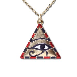 Triangle Egyptian Eyes Necklace