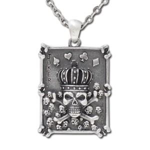 Skull Trump Card Necklace: 195